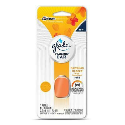 Glade PlugIns Car Air Freshener Refill, Hawaiian Breeze, 0.11 fl oz