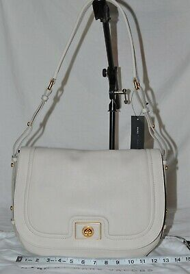 NEW MARC BY MARC JACOBS Revolution Messenger Bag Ivory Beige Leather cross body