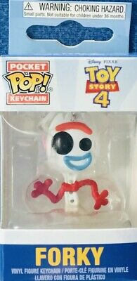 FUNKO POCKET POP KEYCHAIN Toy Story 4 Forky DISNEY SOFT VINYL ACTION FIGURE NEW