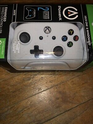 Xbox One & Windows 10 Wired Controller by PowerA - ( White )