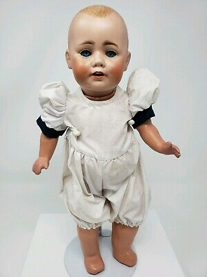 """Antique JDK Kestner Toddler Bisque Dome Head Doll Germany 14"""" Painted Hair #8"""