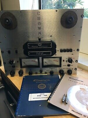 Crown 700/724 reel to reel, just serviced, plays great, excellent cosmetics