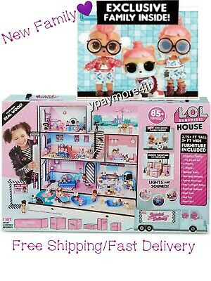 LOL Surprise Doll House 85+ Surprises Wooden Multi Story Girls With NEW FAMILY !