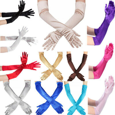 Women Smooth Long Finger Gloves Gloves Opera Evening Party Prom Costume Mittens