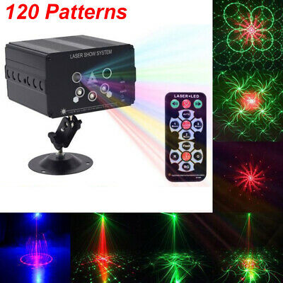 Laser Projector Light DJ Stage Lighting 120 Pattern Party Xmas Holiday Home Dec