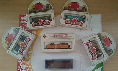 Bachmann Ge U36B Diesel Union Pacific 824 Lighted + 5 Wagons Fret