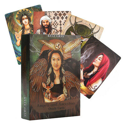 AU 55Pcs Angels And Ancestors Oracle Cards: Deck And Guidebook By Kyle Gray