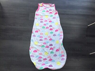 Mothercare Unisex Pink Clouds  Sleeping Bag 1 Tog Age 18-36 Months