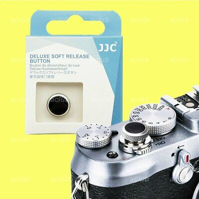 Deluxe Soft Shutter Release Button Silver Black for Sony Canon Leica Nikon