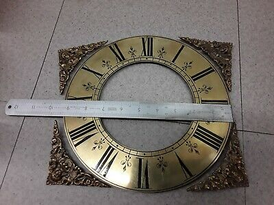 Antique, Brass Clock Chapter Ring and spandrels. Good Original Condition.