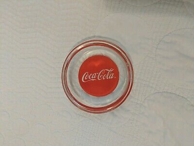 Vintage COCA COLA Glass Coaster 3.75""