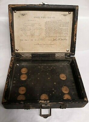 Vintage Jewell Radio Test Set WOOD BOX ONLY Jewell Electrical Instrument Co.