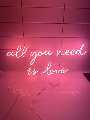 Neon Sign 'All You Need Is Love'