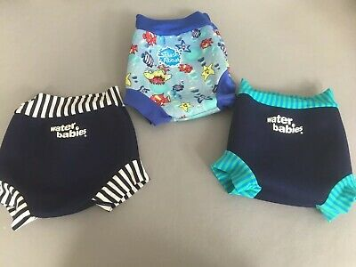 X3 Large Swimming Nappies - X2 Water Babies and   X1 Spash About