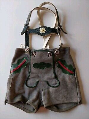Genuine Suede Leather Lederhosen Small