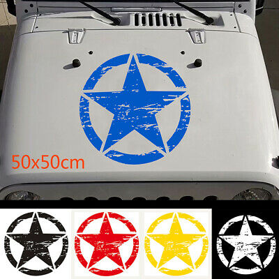 Graphic  Body  Vinyl Car Hood Sticker Army Star Auto Decal For Jeep Wrangler