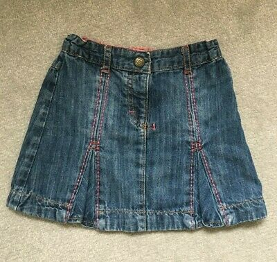 Autograph Girl@M&S Girls Denim Skirt In Blue Mix To Fit Age 3-4 Years