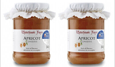 Two Jars of Apricot Extra Jam Conserve from Exmoor