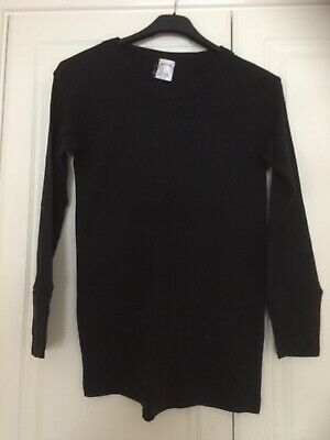 Black Thermal Top And Leggings X2, Size Small Approx Age 12-15 Worn Once Unisex