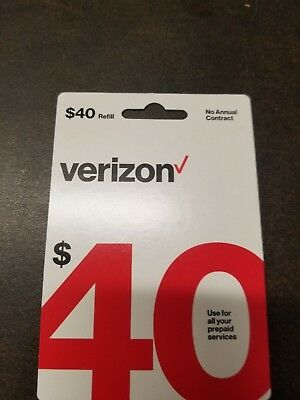 $40 Verizon Wireless Prepaid Refill PIN #  email delivery!
