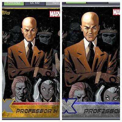 Topps Marvel Collect Card Trader X-Men Professor X Die Cut Gold And Silver