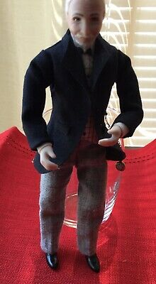 1:12 handcrafted miniature Grey Haired Businessman doll bisque
