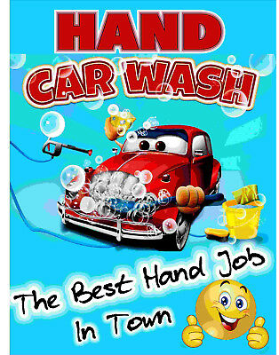 Hand Car Wash - Best Hand Job In Town Sign  - 5mm Correx 800 x 600mm - 5 pack