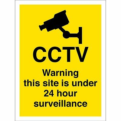 Warning CCTV 24 Hour Surveillance Sign 10 Pack A4 On 5mm Correx plastic