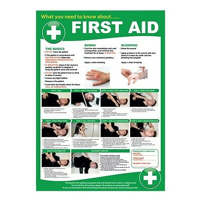 First Aid POSTER - SIZE Large 24x32 inches On 5mm Foamex Plastic -outdoor/indoor