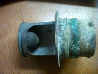 Vintage bronze nautical water deck fill thru-hull collectible