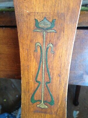 Beautiful Arts & Crafts Inlaid Piano Stool