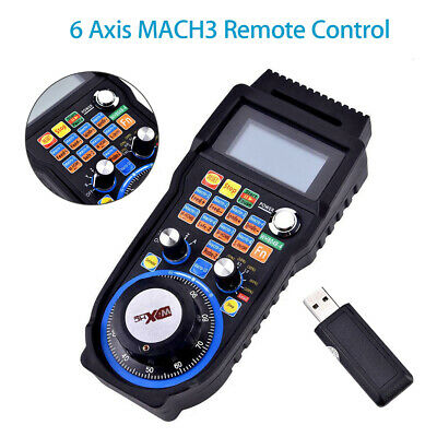CNC MACH3 6 Axis Electronic Wireless Handwheel Controller Pendant Pulse Machine