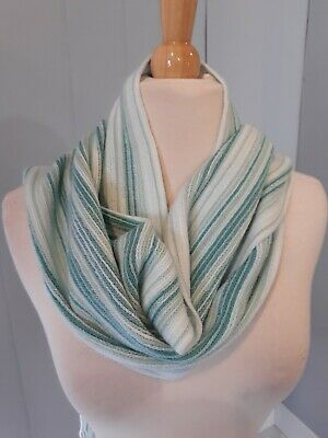 Women's Gap Blue Striped Sparkle Scarf One Size New with Tags