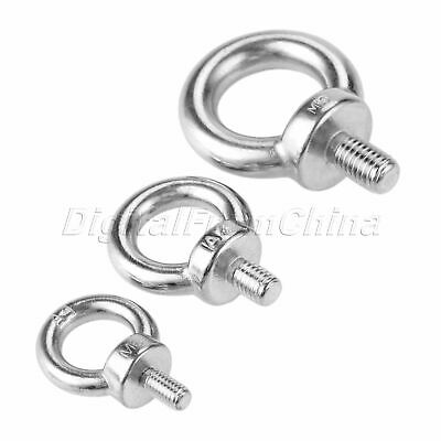 2 316 STAINLESS STEEL LIFTING EYE BOLT M6 WITH NUT  MACHINE LIFTING 1200101