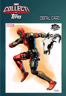 2019 TOPPS ORIGINAL ARTWORK MURRAY ARMED DEADPOOL Marvel Collect Digital