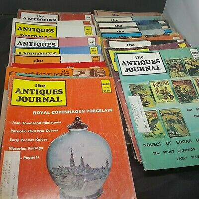 The Antiques Journal Lot of 33 1971 to 1977