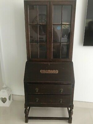 Antique/Vintage Oak Bureau Bookcase.