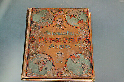 Rowland Hill Stamp Album With Vintage World Collection