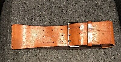 H&M Tan Leather Elasticated Belt Size 8 -14