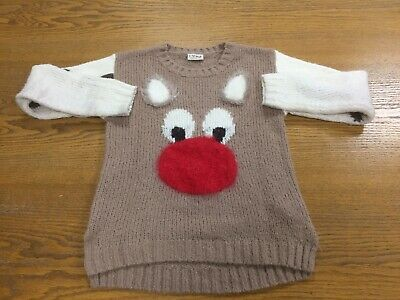 Girls Next Christmas Jumper To Suit 12 Year Old - Vgc