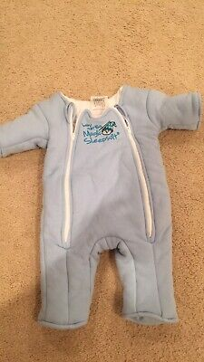 Baby Merlin's Magic Sleepsuit Size 3-6 Months 12-18 Pounds Blue Sleep Suit