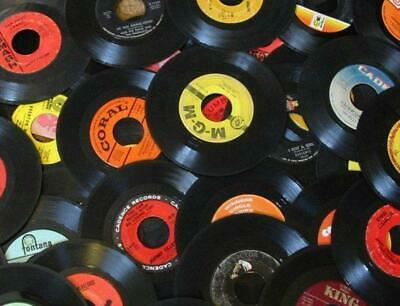 """(60) 7"""" - 45 rpm Random Unpicked and Unsorted. No Dups. Arts & Crafts"""