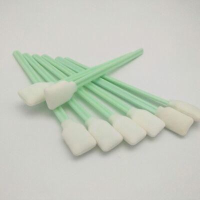 100 Pcs Cleaning Swabs Sponge Stick For Epson Mimaki Roland Eco Solvent Printer