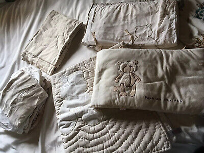 Mothercare 'Little One' Cot Bedding Natural/beige Teddy Motive