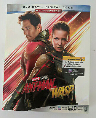 Blu-Ray+Digital Code Marvel Studios Ant-Man and the Wasp Multi-Screen Sealed