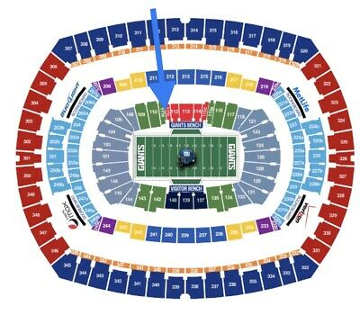 NY Giants v Dolphins 12/15 tickets parking Pass Lower Level Seats 111a Seats 1&2