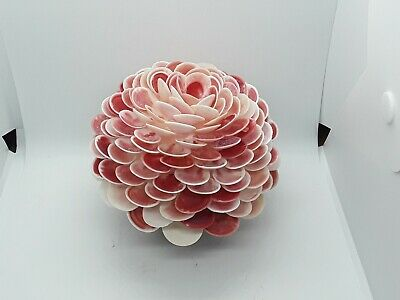 Seashell Large Floral Ball.  Pink and white.