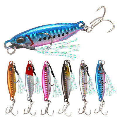 Hard Jigging Lead Fish 5cm Minnow Fishing Lure 3D Eyes with Hooks Hard Baits