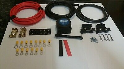 12V Heavy Duty Split Charge Kit With 140A Voltage Sensitive Relay 5M Long