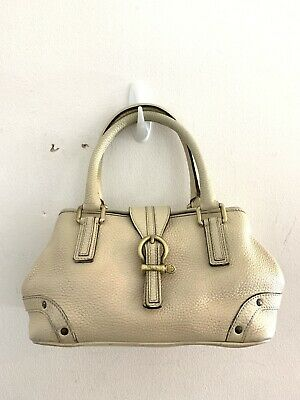 Genuine Authentic BURBERRY Small Beige Leather Handbag